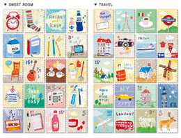 Wholesale Diary For Girls - Wholesale- 480 pieces lot(6 bags) DIY Cute Cartoon Animals Girls Stamp Stickers kawaii Stationery for Diary Kids Gifts Free shipping 06402