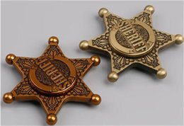 Wholesale Copper Police - 2017 best metal Retro Fidget Spinners Hand Spinner Retro Police Insignia Design Hand Spinner Gyro Copper Gold Color Free shipping