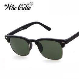 Wholesale Designer Sunglasses Ray Brand - Brand Designer Club Master Rays Sunglass 2017 Vintage Retro Classic Eyewear Men Women semi Rimless Sunglasses Eyewear Superstar Sun Glasses