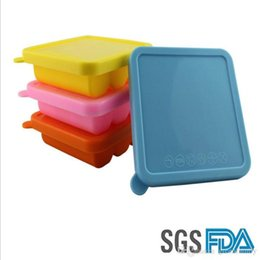 Wholesale Baby Cakes Tray - Multifunction 9 Cube Durable Silicone Ice Cube Tray Mold with Lid for Baby Pruee Frozen Herb Ice Cube and Bakery Bar Kitchen Accessories