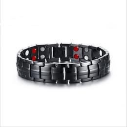 Magneti 15mm online-Mens 361L Acciaio inossidabile Germanio Energia magnetica Energia Potenza Bracciali Bracciali Bracciale in acciaio inox 15mm con doppia fila magnetica