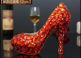 Wholesale Diamond Crystal High Heel Shoes - Candy Dimonds Crystal Round Toe 2017 Bride Shoes Bridal Heels Handmade Fashion Women Lady Rhinetones Lace Diamonds Wedding Pumps