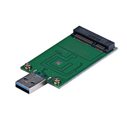 Wholesale Ide External - Wholesale- Factory Price MOSUNX Hot Selling Mini PCI-E mSATA To USB 3.0 External SSD Conveter Adapter Card Free Shipping