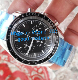 Wholesale Moon Steel - Mens Chronograph swiss Quartz Watch Master Professional First Man On The Moon Men Sport Watches