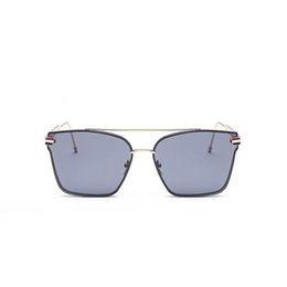 Wholesale Double Shield - Hot Selling Double Girder Sunglasses Metal Casual Coating Mirror Luxury Brand Designer twin beam Glasses Driving Retro Sunglasses for Travel