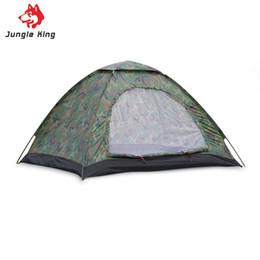 Wholesale fiberglass rods - Wholesale- 3-4 Person Single Layer Camouflage Camping Tent Outdoor Garden Picnic Hiking climb Rainproof Waterproof Shelter Fiberglass Rod