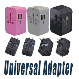 Wholesale International Travel Power Adapter - All in One Universal International Plug Adapter Dual USB Port World Travel AC Power Charger Adaptor with AU US UK EU converter Plug