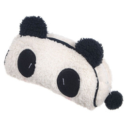 Wholesale Panda Pencil Bag - Wholesale- TEXU Soft Plush Panda Pencil Phone Card Case Cosmetic Makeup Bag Pouch Purse