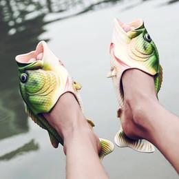 Wholesale Baby Slipper Floor Shoes - Kids Fish Children Shoes Handmade Bass Sandals EVR Non-slip Beach Shoes Fashion Hot Sale Soft Slipper Baby Gift