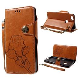 Старинный розовый телефон онлайн-Для Huawei P10 Lite Чехол Vintage Style Rose Pattern Флип Защитная Крышка Телефона с Держателем Карты - 5.2 дюймов