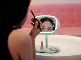 lotus lumière bouddha Promotion Miroir de maquillage créatif lampe de table chambre commode éclairage lampe de table multifonctionnel rechargeable lampe de bureau à LED