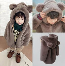 Wholesale Cheap Winter Clothing Free Shipping - Lovely Child Wearing Winter Clothes Cheap Girl Boy Warm Wool Outwear Free Shipping In Stock Children Clothing