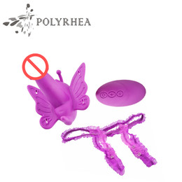 Wholesale Remote Sexy Toy - Butterfly Adults Toys For Women Sexy Vibrator Strap On Dildo Vibrator Remote Speed Control Sex Products Intimate Goodsvibrator Sex Toys