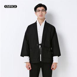Wholesale China Fashion Coat - Wholesale- China style cotton linen cardigan coat mens fashion casual jacket male street hip hop kimono outwear plus size M-5XL,M707