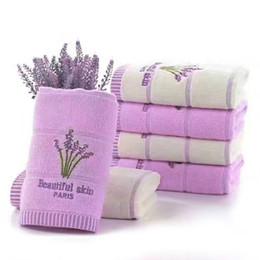 Asciugamani grandi in cotone da 29,1 * 13,4 pollici uso polivalente per bagno, mani, viso, palestra, telo da bagno Spa Profumo confezione lavanda da 50 PC-00 da tovagliolo compresso di natale fornitori