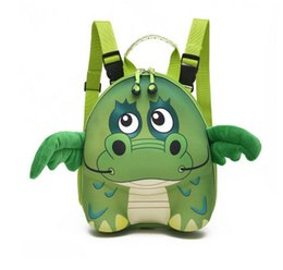 Wholesale Baby Bag Pvc - Baby kids backpacks cartoon anime double shoulder backpacks for children cartoon animal modelling school bag fashion kids shell packageT4204