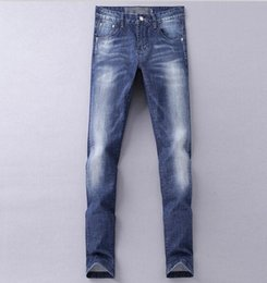 Wholesale Mens Casual Business Jeans - Hot Sale Free Shipping 2017 New Arrival Spring Autumn Business Simple European Design Straight Long Slim Jeans Mens Casual Jeans