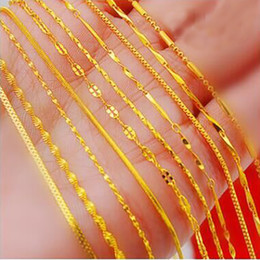 Wholesale Red Heart Gifts - 18 gold plated necklace 24K euro Vietnamese sand gold chain wholesale short paragraph plated true color gold chain clavicle chain