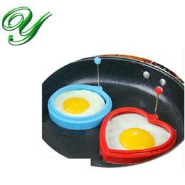 Wholesale Egg Rice Mould - silicone egg ring Mold Pancake Moulds Tools set heart shape circle round Fried Egg Art Kitchen gadget creative bento rice egg holder tray