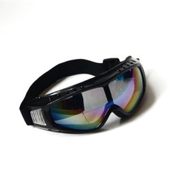 Wholesale Wholesale Security Equipment - PVC Black Windproof Safety Goggles Rainbow Color Lenses Dust-proof Protective Medical Eye Skiing Mirror Security Equipment