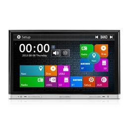 Wholesale Radio Gps Systems - 8 Inch 2 Din Car DVD Radio GPS Player MTK3360 Win8 UI Multimedia System Screen Slide Down Universal Model