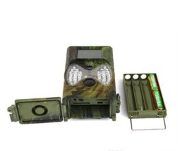 Wholesale ir game cameras - 2017 hot sell HC-300M Trail Hunting Camera Photo Trap MMS SMS GSM GPRS 12MP HD Wild Camouflage Vedio Game Cameras with 36 Pcs IR LEDs