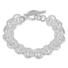 Wholesale Jewelrys Sets - DH023 Fine silver plated wholesale jewelrys,Hot sale Factory price charm free shipping 925 fashion Triple Bracelet  acpaitwa