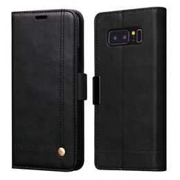 Wholesale Galaxy Purse Case - Luxury Wallet Leather Case For Samsung Galaxy Note 8 Cover Case Flip Card Slot Pouch Magnet Belt Closure Folio Purse For Galaxy Note8