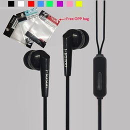 Wholesale Earphones For I Phone - 3.5mm earphone i-koson new arrival headphone in ear crystal earphones ear phones headset with mic earbuds for Samsung xiaomi sony opp bag