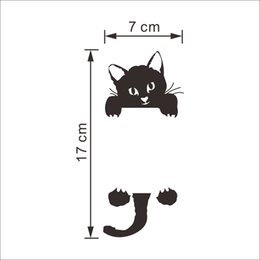 Wholesale Removing Adhesive - ZY327 new kitten living room bedroom switch stickers explosion wall stickers wholesale can be removed