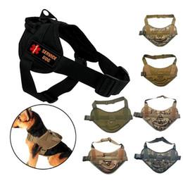 Wholesale Dog Tactical Vest - VP-219 Tactical Dog Training Vest 800D Nylon Adjustable Airsoft Sports Wear Gear Patrol Dog Harness Service Dog Vest with 2 patches