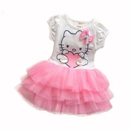 Wholesale Petal Fold - New cartoon print bow girl fashion lace folds tu-tu skirt 2-5 years old