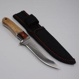 2019 diseños de cuchillas de hoja fija Diseños de cuchillos de caza con cuchilla fija Mango de madera Cuchillo para acampar 5CR13MOV Cuchillas de supervivencia EDC Herramientas Cuchillos pequeños Cuchillos rectos hechos en China diseños de cuchillas de hoja fija baratos