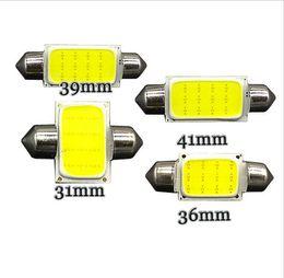 Wholesale Bulb 36mm 3w - 20Pcs Car COB LED 3W White Festoon 39mm Initerior Dome Reading Light