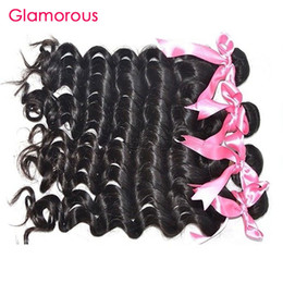 Wholesale Indian Remy Weave Shedding - Glamorous Virgin Hair Brazilian Natural Wave Hair Extensions No Tangle No Shed Peruvian Malaysian Indian Cheap Human Hair Weaves 4 Bundles