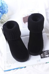 Wholesale Women S Leather Ankle Boots - 2018 High - quality new WGG women 's classic boots boots winter boots US SIZE 5 --- 13