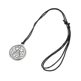 Wholesale Wood Cross Pendants Men - Top Selling Wiccan Pentacle Black Wood Amulet Necklace Rope Chain Men Neckalce