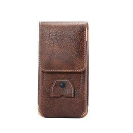Wholesale Inch Holster - Wallet Case Universal Leather CellPhone Bag Outdoor Sport Phone Pouch Hook Loop Belt Holster For Multi Smart Phone Between 4.7-5.7 inch