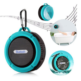 Wholesale Portable Sd Reader - C6 Mini Wireless Bluetooth Speaker Portable Subwoofer Stereo Speakers Support TF SD Cards MP3 Music Player With Suction Cup