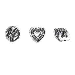 Wholesale Pink Cz Necklaces - Love & Family Petites Necklace Women 925 Sterling Silver Jewelry Soft Pink Enamel Pink&Clear CZ Pandora Necklaces & Pendants For Women
