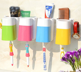 Wholesale Suction Cup Wall Hook - happy familyToothbrush Wall Suction Bathroom Sets cups Sucker Toothbrush Holder   Suction Hooks