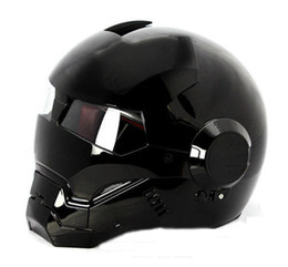 Wholesale Xl Full Face Motorcycle Helmet - MS Brand 610 Atomic-Man Motorcycle Bike Vespa Scooter Motogp DOT Approved Helmet Black