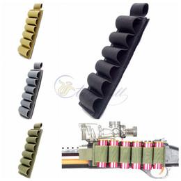 Wholesale 12 Gauge Holders - Nylon 6 Rounds Shotgun Shell Butt Stock Ammo Carrier Holder With Adhesive Backing Strip Shell Holder for 12 Gauge