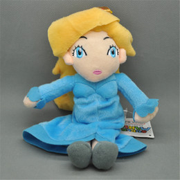 """Wholesale Princess Party Stuff - EMS New 9"""" 23CM Princess Rosalina Doll Anime Collectible Plush Super Mario Bros Party Gifts Soft Stuffed Dolls Toys"""