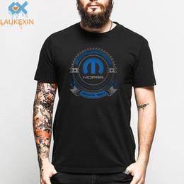 Marca chrysler on-line-LAUKEXIN Mopar Chrysler Logotipo Do Carro de Impressão T Shirt Homens Camionete Hemi Ram O Pescoço TShirt Retro O Pescoço T-shirt Da Marca de Manga Curta Camisas