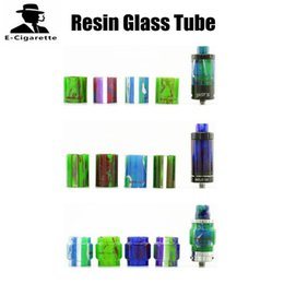 Wholesale Demon Glass - Demon Killer Resin Glass Tube Resin Apperance for TFV8 Melo 3 Mini Melo 3 Cleito Ijust S Tanks