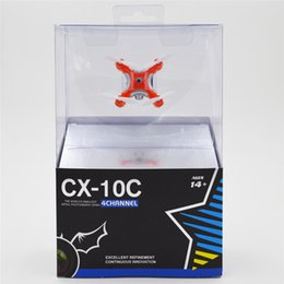 Wholesale Cheap Toy Helicopters - cheap Cheerson CX-10C 2.4G 4CH RC Quadcopter With 0.3MP Camera Nano Helicopter Drone Remote Control Toy DHL Shipping sealed box