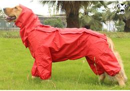 Wholesale Big Dog Lead - Free shipping Big Dog Raincoat Large Dog Waterproof Clothing golden retriever Samoyed Dog Clothes Poncho four led jumpsuit Pet Raincoat