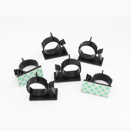 Canada Les attaches de câble réglables en fil de nylon à endos auto-adhésif noir serre le fil Offre
