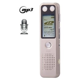Wholesale Vor Digital Recorder - Wholesale-VM30 Professional 8GB LCD Digital Voice Recorder with VOR MP3 Player (Light Gold)